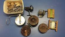VARIOUS ANTIQUE / VINTAGE FISHING REELS MOST OF THEM WORKING COND Blackburn Whitehorse Area Preview