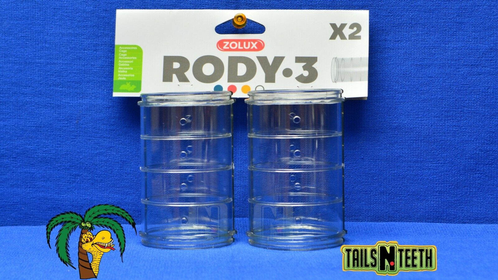 Zolux RODY-3 Straight Tube For Rody-3 InterConnecting Cages - 2 Pack - CA$3.99