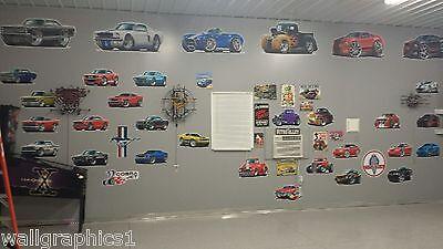 Stickers 2002 Pontiac Trans Am WS-6 Cartoon Car Wall Decor Garage Graphics Room - $19.89