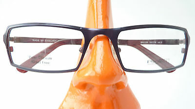 Brillen Gestell Titan eckig dunkelblau Männer Fassung nickelfrei leicht Gr L