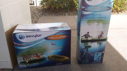 Sevylor fish hunter hf360 + 18lbs elect. Motor Cairns 4870 Cairns City Preview
