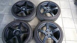 "PDW Black 17"" wheels good tyres Millfield Cessnock Area Preview"