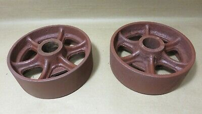 6x2 Industrial Vintage Cast Iron Cart Wheels 5 1316 X 2 516 Actual 1 516 Bore