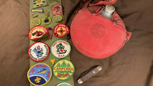 Lot of Vintage Decorative Display Decor Boy Scout Youth Cabin Cottage Boys Room