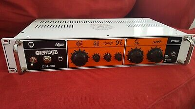 orange ob1 500 bass amp solid state amp head guitars slightly used never cranked