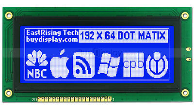 4blue 192x64 Dots Graphic Lcd Display Module Lcm Wks0107ks0108 Wtutorial