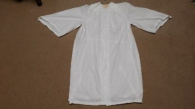 VINTAGE CHILD'S YOUTH CHURCH ROBE WHITE C E WARD CO OHIO SIZE L