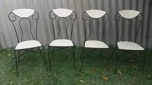 4 WROUGHT IRON & TIMBER CHAIRS Nedlands Nedlands Area Preview