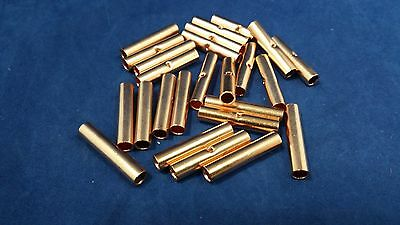 8 Gauge Copper Butt Connector 25 Pk Crimp Terminal Awg Battery Cur8