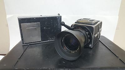 Hasselblad 500c/m 500CM Camera with 50mm Lens, A12 Back, Polaroid Back, and Case
