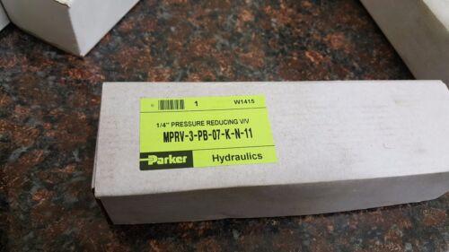 Parker Hydraulics 1/4 Pressure Reducing Valve MPRV-3-PB-07-K-N-11