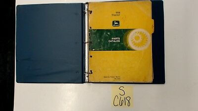 John Deere 950 Tractor Parts Catalog Back Cover Missing Maybe A Couple Of Pages