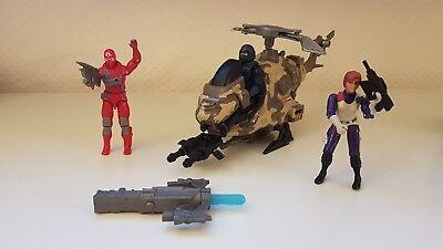G.I. GI Joe Pack Helikopter + 3 Figuren + Kanone Ninja Cobra General
