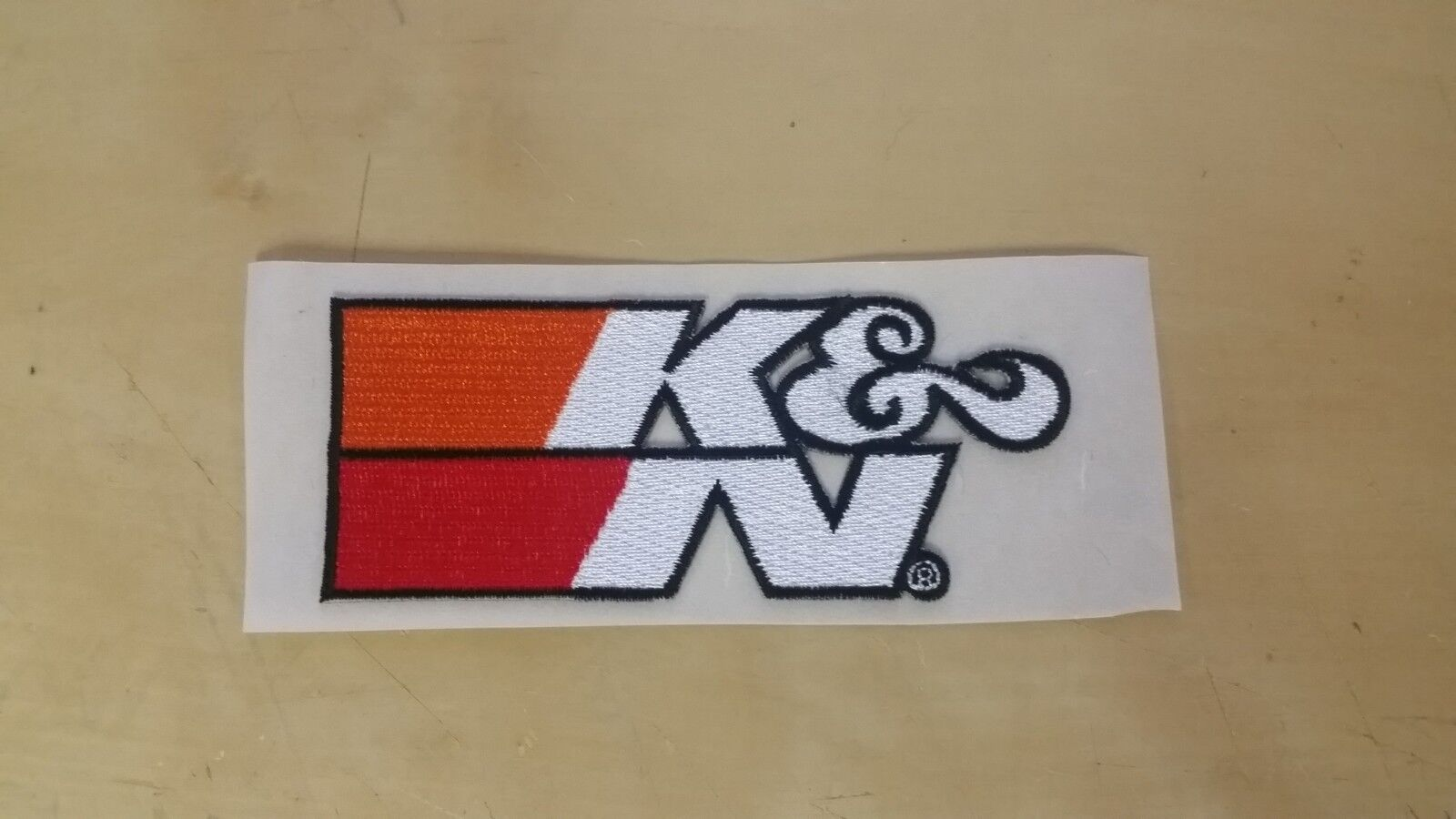 """K&N Logo Patch 4-1/4"""" x 1-3/4"""" Air Filter ! Adhesive Backed"""