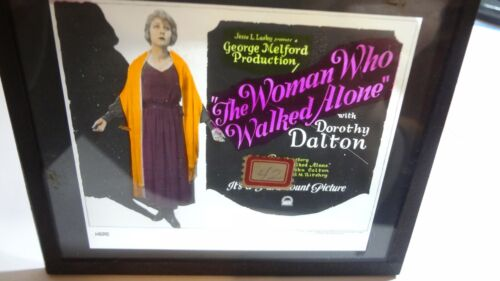"""1922 Glass Slide  """"The Woman Who Walked Alone"""" Silent Movie Film"""