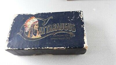 CATTARAUGUS CHIEF IN COLOR HARDWARE KNIFE BOX ADVERTISING TOP-GREAT COLOR