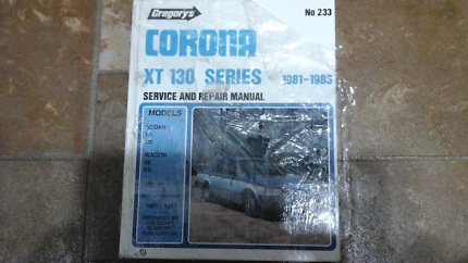 Toyota  corona  repair manual  xt 130 series can post  new  North Richmond Hawkesbury Area Preview