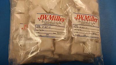 2 Pcs F-87-2 Jw Miller Core Ferrite Toroid .883od .557id .250thick