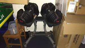 Bowflex dial weights dumbells and stand Albert Park Port Phillip Preview