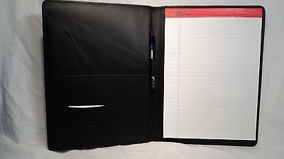 Ili 6312 Black Pebble Grain Leather Letter Sized Writing Pad