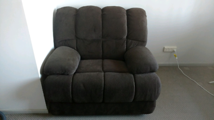 Pair of large brown recliners/lounge chairs, excellent condition.