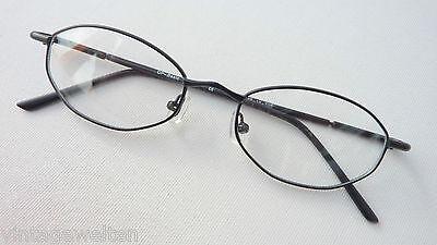 Oldschoolbrille schmal Metallfassung Brille Herren günstig schwarz Grösse M