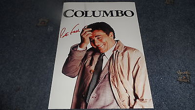 "COLUMBO PP SIGNED 12""X8"" A4 PHOTO POSTER PETER FALK"