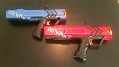 Lot 2x NERF Rival Apollo XV-700 Blaster Gun -VGC- Red & Blue