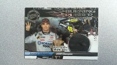 Jimmie Johnson Driver Series (2009 Press Pass Burning Rubber Driver Series Jimmie Johnson #BRD37 WIN Tire)