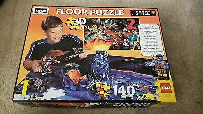 LEGO SPACE 3-D PLUS LARGE FLOOR PUZZLE 1997 RARE Play matt Set Vintage 500 pc