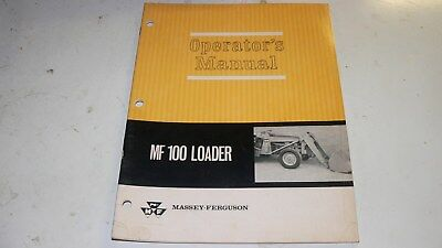 Massey Ferguson Mf 100 Loader Operators Manual
