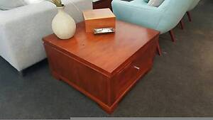 Square Solid Timber Coffee Table Glenmore Park Penrith Area Preview