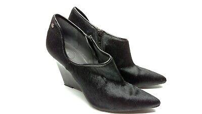 Calvin Klein Nadine Womens Fur Platform Shoes Heels Black Size 8.5 E5040