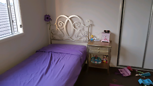 Childs/girls princess bed with side table both gold. North Lakes Pine Rivers Area Preview