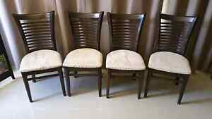 4 X DINING ROOM CHAIRS TIMBER FRAME WALLNUT Leumeah Campbelltown Area Preview