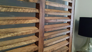 French rustic shutters / room divider Willoughby Willoughby Area Preview