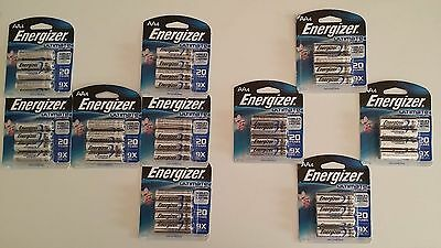 *FREE SHIPPING* 40 Energizer L91BP Ultimate Lithium AA Batteries NEW exp 2036