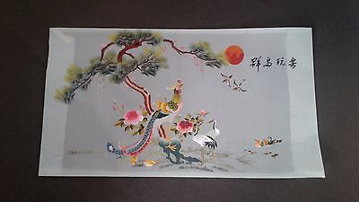 large vintage Chinese embroidery on silk