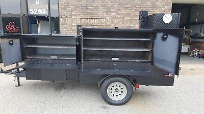 Bbq Smoker 48 Barn Door Grill Trailer Food Truck Mobile Cart Catering Business
