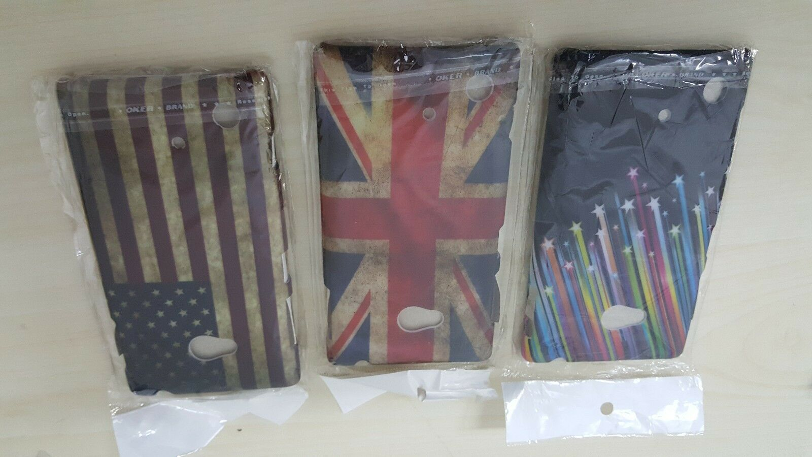 KIT 3X COVER CUSTODIA RIGIDA HARD CASE PER NOKIA LUMIA 720 FLAG USA UK BANDIERA