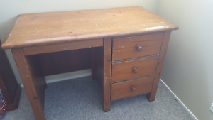Solid wooden old school desk - FREE Collaroy Manly Area Preview