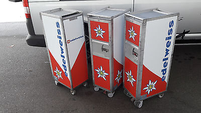 edelweiss airline trolley halfsize kssu-norm (ex. klm) bordbar