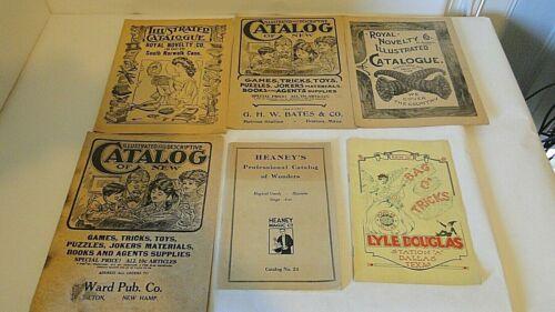Lot of 6 Vintage Magic Trick catalogs Lyle Douglas Heaney
