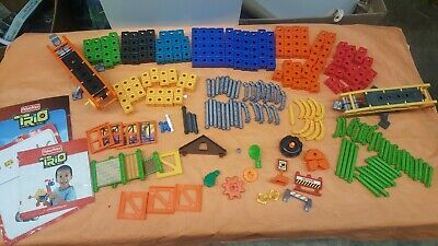 Fisher Price TRIO BLOCK LOT 175 Pieces + Books (3) EXCELLENT CONDITION!