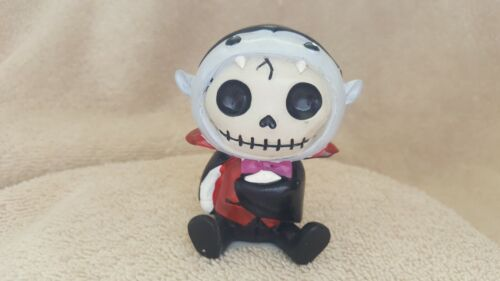 FURRYBONES Count the Dracula Figurine Skull in Costume Collect New Free Shipping