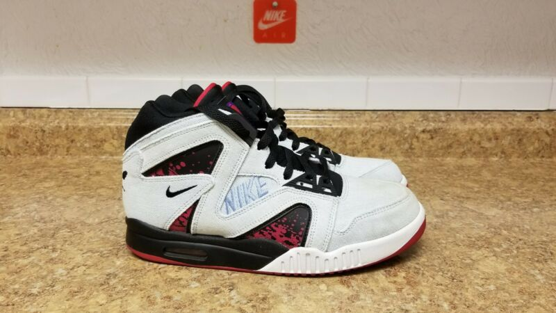 buy online 351ba 686b1 Nike Air Tech Challenge Hybrid Washed Denim Agassi 653874-400 Men Shoe Sz 8  VNDS