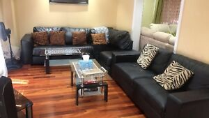 Two seat couch and L shape couch for sale