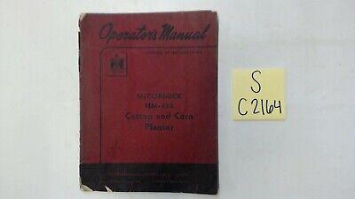 Mccormick Hm-458 Cotton And Corn Planter Operator Manual