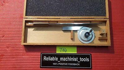 Excellent Swiss Made Tesa Brown Sharpe Protractor Machinist Toolst64