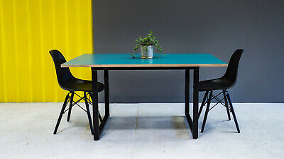 Dining Table Metal Frame with Plywood & Formica Top
